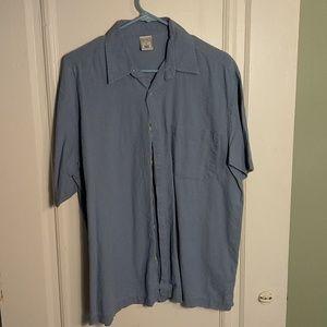 Old Navy short sleeve button down, blue linen